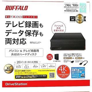 バッファロー(Buffalo)のパソコン&テレビ録画用 外付けHDD 6TB BUFFALO(バッファロー)(PC周辺機器)