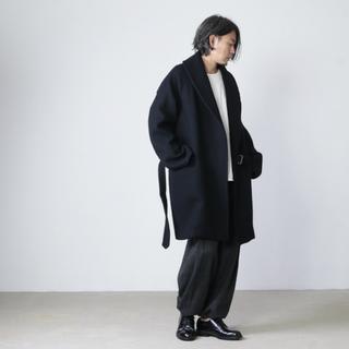 コモリ(COMOLI)のCOMOLI ウールショールカラーコート Size2(トレンチコート)
