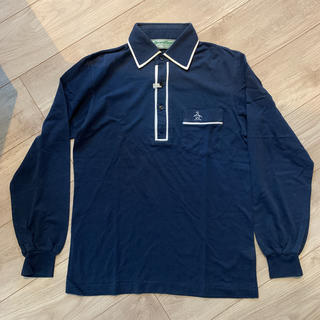Munsingwear - マンシングウェア 紺 長袖ポロシャツ ゴルフウェア Sサイズ