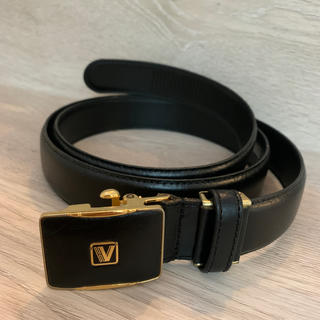 ヴァレンティノ(VALENTINO)のHUGO VALENTINO  黒  メンズ牛革ベルト 美品!(ベルト)