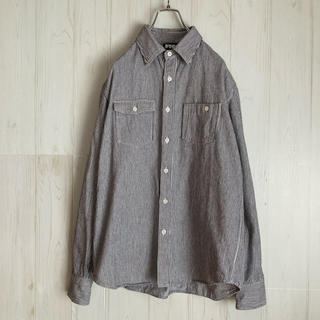 エフティーシー(FTC)のFTC エフティーシー ヒッコリーシャツ ストライプシャツ 厚手 日本製(シャツ)