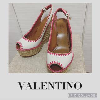 VALENTINO - VALENTINO👠ウェッジソールサンダル