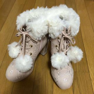 リズリサ(LIZ LISA)のLIZLISA ファーショートブーツ(ブーツ)