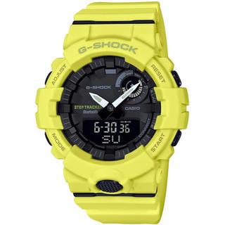 ジーショック(G-SHOCK)のカシオ G-SHOCK 歩数計測 モバイルリンク機能 腕時計 イエロー(腕時計(アナログ))