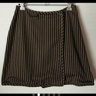 フェンディ(FENDI)の美品 フェンディ ラップ 巻き スカート(ミニスカート)