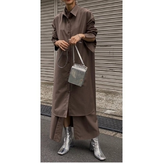 アメリヴィンテージ(Ameri VINTAGE)のUNDRESSED LAYERED SHIRT DRESS シャツワンピース(ロングワンピース/マキシワンピース)