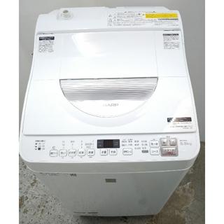 SHARP - 洗濯機 プチドラム 乾燥機 ホワイト シンプルデザイン 洗濯機乾燥機