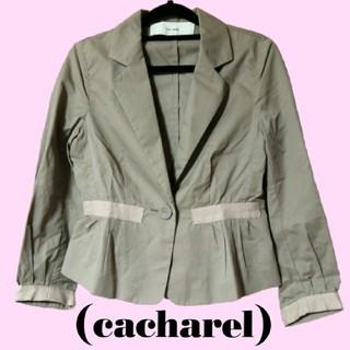 キャシャレル(cacharel)のキャシャレル テーラード ジャケット リボン ピンク グレー 春 秋 正規品(テーラードジャケット)