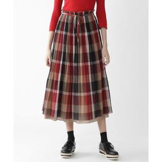 バーバリーブルーレーベル(BURBERRY BLUE LABEL)のクレストブリッジ  リバーシブルスカート 完売品(ロングスカート)