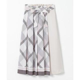 バーバリーブルーレーベル(BURBERRY BLUE LABEL)のクレストブリッジ スカーフプリントスカート 2020(ロングスカート)