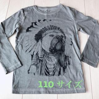 ザラキッズ(ZARA KIDS)の【ZARA 110 パグ ロンT】ブルドック 犬 インディアン アメカジ(Tシャツ/カットソー)