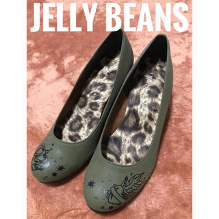 JELLY BEANS - JELLY BEANS【美品】tatoo×レオパード柄 ヒール パンプス