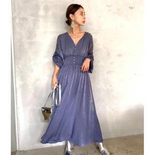 アメリヴィンテージ(Ameri VINTAGE)のAMERI HALF LACE DRESS ドレス(ロングドレス)