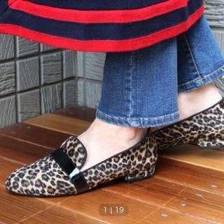 フィン(Fin)のレオパード柄ローファー(ローファー/革靴)
