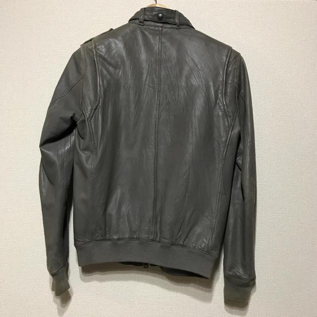 AMERICAN RAG CIE(アメリカンラグシー)のAMERICAN RAG CIE アメリカンラグジー レザージャケット グレー メンズのジャケット/アウター(レザージャケット)の商品写真