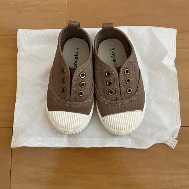 futafuta(フタフタ)のバースデイ スニーカー スリッポン デッキシューズ キッズ/ベビー/マタニティのベビー靴/シューズ(~14cm)(スニーカー)の商品写真
