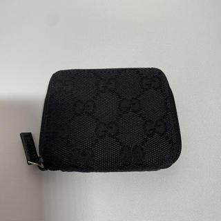 Gucci - GUCCI グッチ GGキャンバス ラウンドジップ コインケース ブラック