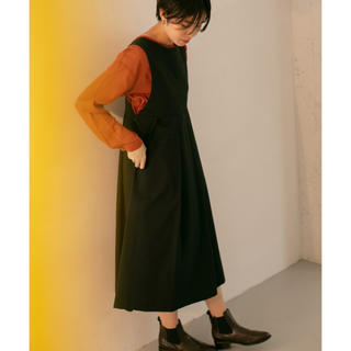 ケービーエフ(KBF)のKBF BIGプリーツジャンパースカート2019 ブラック(ひざ丈ワンピース)