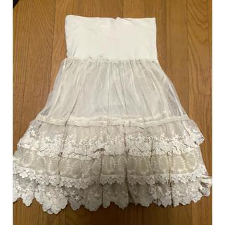 フランシュリッペ(franche lippee)の美品 フランシュリッペ   レースペチスカート(ひざ丈スカート)