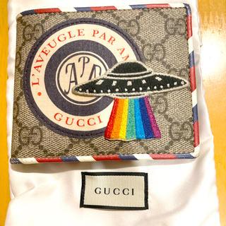 Gucci - GUCCI(グッチ)二つ折り財布 グッチ クーリエ UFO GGスプリーム