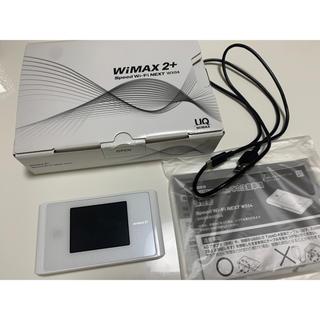 エヌイーシー(NEC)のUQ WiMAX 2+ WX04 クリアホワイト(PC周辺機器)