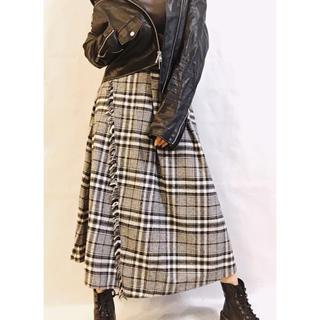 ジェイダ(GYDA)の【GYDA】チェックフリンジロングスカート(ロングスカート)
