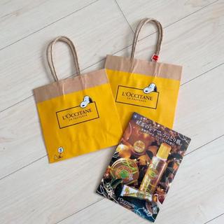 ロクシタン(L'OCCITANE)のスヌーピー☆ロクシタン☆紙袋2枚セット(ショップ袋)