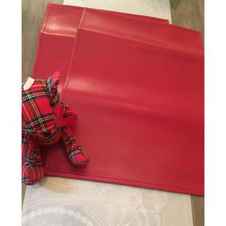 ムジルシリョウヒン(MUJI (無印良品))の未使用 赤の皮ランチョンマット2枚セット(テーブル用品)