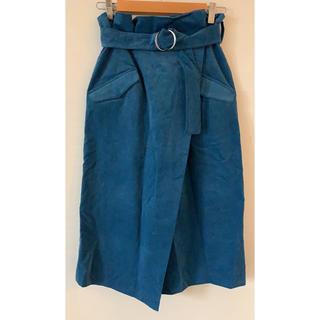ダズリン(dazzlin)のコーデュロイ 巻きスカート(ひざ丈スカート)