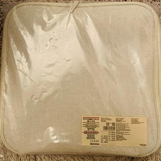 MUJI (無印良品) - 無印良品 ポリエステル綿麻混ソフトボックス 角型小蓋付き