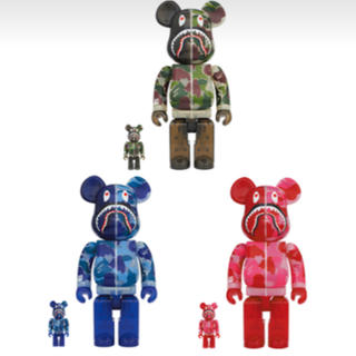 アベイシングエイプ(A BATHING APE)のBE@RBRICK CLEAR ABC CAMO SHARK 400% 100%(その他)