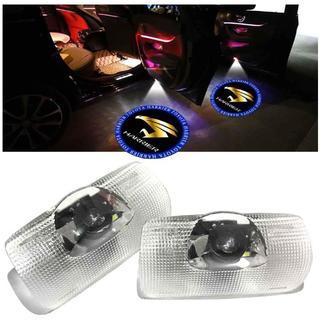 Minile ハリアー車用ドアランプ カーテシランプ ロゴ ドアウェルカムライト(天井照明)