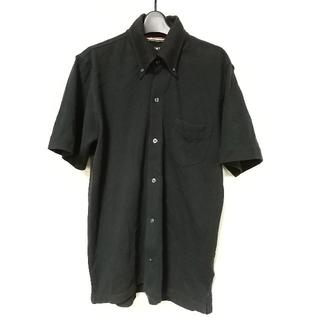 ビームス(BEAMS)のBEAMS フルオープン ポロシャツ Mサイズ 黒 ビームス シンプル セレクト(ポロシャツ)