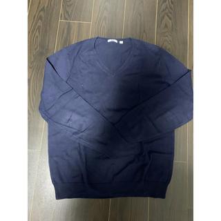 ユニクロ(UNIQLO)のユニクロ ニット セーター ネイビー Lサイズ(ニット/セーター)