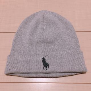 ポロラルフローレン(POLO RALPH LAUREN)のラルフローレンニット帽 グレー(ニット帽/ビーニー)