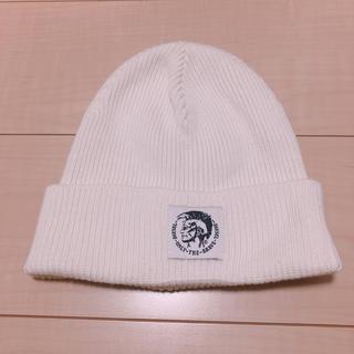 ディーゼル(DIESEL)のディーゼルニット帽 白(ニット帽/ビーニー)