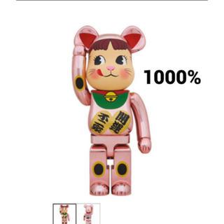 BE@RBRICK 招き猫 ペコちゃん 桃金メッキ 1000% (その他)