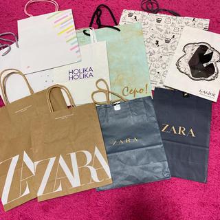ザラ(ZARA)のブランド ショッピング袋 ショップ袋 ショッパー 紙袋 まとめ売り(ショップ袋)