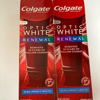 クレスト(Crest)のコルゲート colgate optic white  (歯磨き粉)