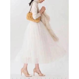 ツルバイマリコオイカワ(TSURU by Mariko Oikawa)のツルバイマイコ オイカワ  チュールスカート(ロングスカート)