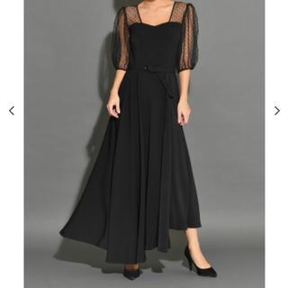 アメリヴィンテージ(Ameri VINTAGE)のMy shawty  dot tule day dress ドレス ワンピース(ロングドレス)