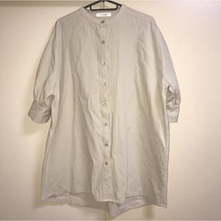 ダブルクローゼット(w closet)の☆w closet☆バンドカラーシャツ(シャツ/ブラウス(半袖/袖なし))