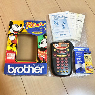 brother - brother ブラザー P-touch 160 ミッキーマウス ラベルライター
