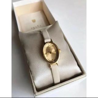 アガット(agete)のagete アガット カラーガラス 革ベルトウォッチ(腕時計)