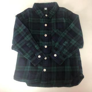 ムジルシリョウヒン(MUJI (無印良品))の無印良品☆キッズ チェックシャツ 100cm(ブラウス)