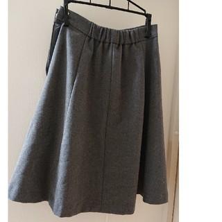 ミスティウーマン(mysty woman)のミスティウーマン グレー スカート(ひざ丈スカート)
