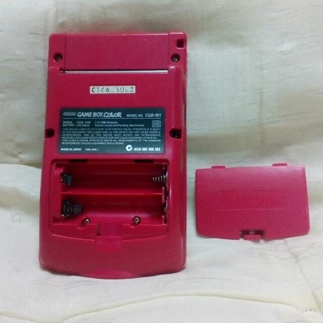 ゲームボーイ(ゲームボーイ)のゲームボーイカラー 本体 レッド エンタメ/ホビーのゲームソフト/ゲーム機本体(携帯用ゲーム機本体)の商品写真