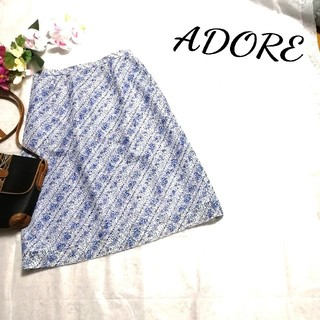 アドーア(ADORE)のアドーア♡新品 総レース スカート(ひざ丈スカート)