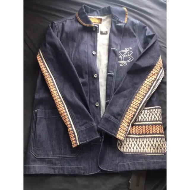 NEIGHBORHOOD(ネイバーフッド)のNEIGHBORHOOD×STUSSY ジャケット メンズのジャケット/アウター(Gジャン/デニムジャケット)の商品写真