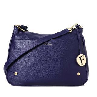 フルラ(Furla)の美品 FURLA フルラ ロゴ金具 レザー 斜め掛け ショルダー バッグ(ショルダーバッグ)